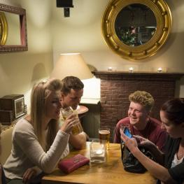 Socialising at Clothworkers Arms Sutton Valence 2